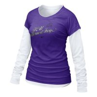 Tcu Horned Frogs Shirt - Nike Women's Cross Campus Double Layer T Shirt