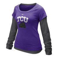 Nike Tcu Horned Frogs Womens Long Sleeve Double Layer T-shirt