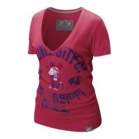 Nike Mississippi Rebels Womens Vault V-neck T-shirt