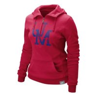 Nike Mississippi Rebels Womens Vault Half Zip Hoody