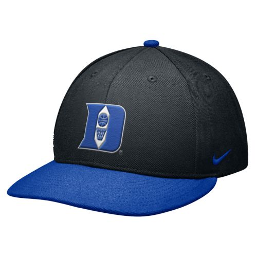 8829686697e70 Nike Duke Blue Devils Elite 643 Fitted Flat Bill Hat
