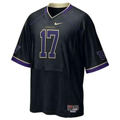 hot sale online be42a fe8b8 Nike Washington Huskies Tackle Twill Replica Football Jersey - #17 Black