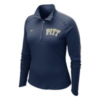 Nike Pittsburgh Panthers Womens Half-zip Dri-fit Element Top