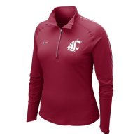 Nike Washington State Cougars Womens Half-zip Dri-fit Element Top