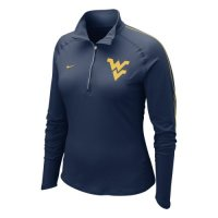 Nike West Virginia Mountaineers Womens Half-zip Dri-fit Element Top