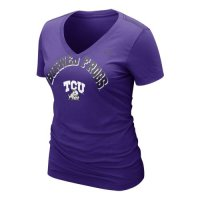 Nike Tcu Horned Frogs Womens Whose That V-neck T-shirt