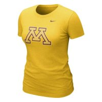 Nike Minnesota Golden Gophers Womens Graphic Blended T-shirt