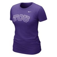 Nike Tcu Horned Frogs Womens Graphic Blended T-shirt