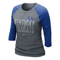 Nike Kentucky Wildcats Womens 3/4 Burnout Raglan T-shirt