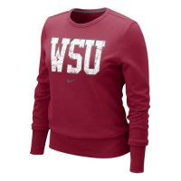 Nike Washington State Cougars Womens Comfy Crew Fleece