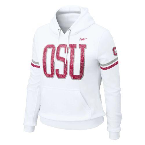 da42919b670 Nike Ohio State Buckeyes Womens Vault Pull-over Hooded Sweatshirt