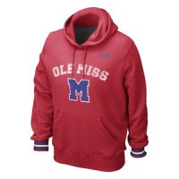 Nike Mississippi Rebels Vault Stripe Pull-over Hooded Sweatshirt