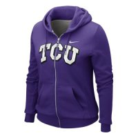 Nike Tcu Horned Frogs Womens Classic Full-zip Hooded Sweatshirt