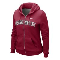Nike Washington State Cougars Womens Classic Full-zip Hooded Sweatshirt