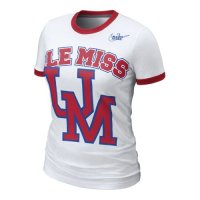 Nike Mississippi Rebels Womens Vault Ringer T-shirt