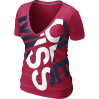 Nike Mississippi Rebels Women's Deep V Blended Tee