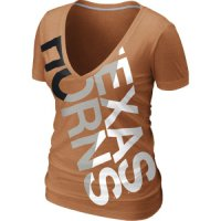 Nike Texas Longhorns Women's Deep V Blended Tee
