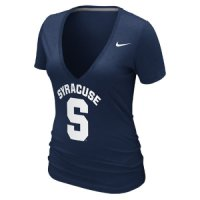 Nike Syracuse Orange Womens Deep V Burnout T-shirt