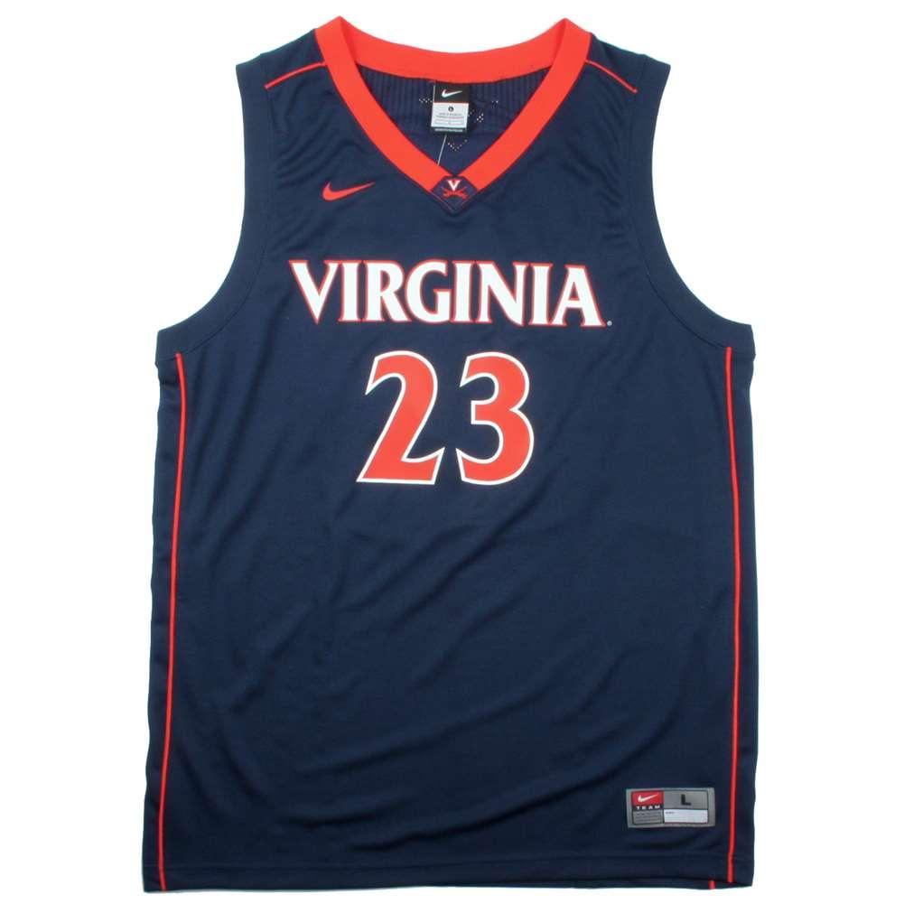Nike Virginia Cavaliers Replica Basketball Jersey - #23 Navy