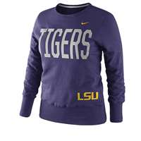 Nike LSU Tigers Women's Classic Fleece Crew Sweatshirt