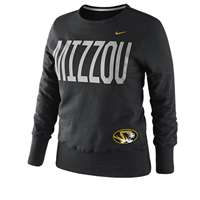 Nike Missouri Tigers Women's Classic Fleece Crew Sweatshirt