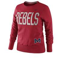Nike Mississippi Rebels Women's Classic Fleece Crew Sweatshirt