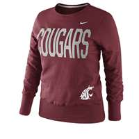 Nike Washington State Cougars Women's Classic Fleece Crew Sweatshirt