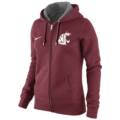 Nike Washington State Cougars Women's Full Zip Hooded Sweathshirt