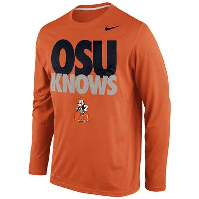 retail prices 100% genuine classic Nike Oklahoma State Cowboys Knows Legend Long-Sleeve T-Shirt