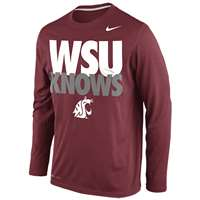 Nike Washington State Cougars Knows Legend Long-Sleeve T-Shirt