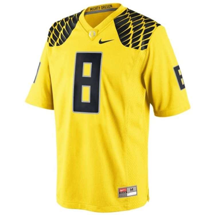 buy popular 03ffc 7d230 Nike Oregon Ducks Replica Football Jersey - #8 Yellow