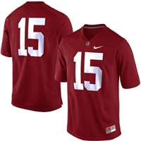 Nike Alabama Crimson Tide Replica Football Jersey - #15 Crimson