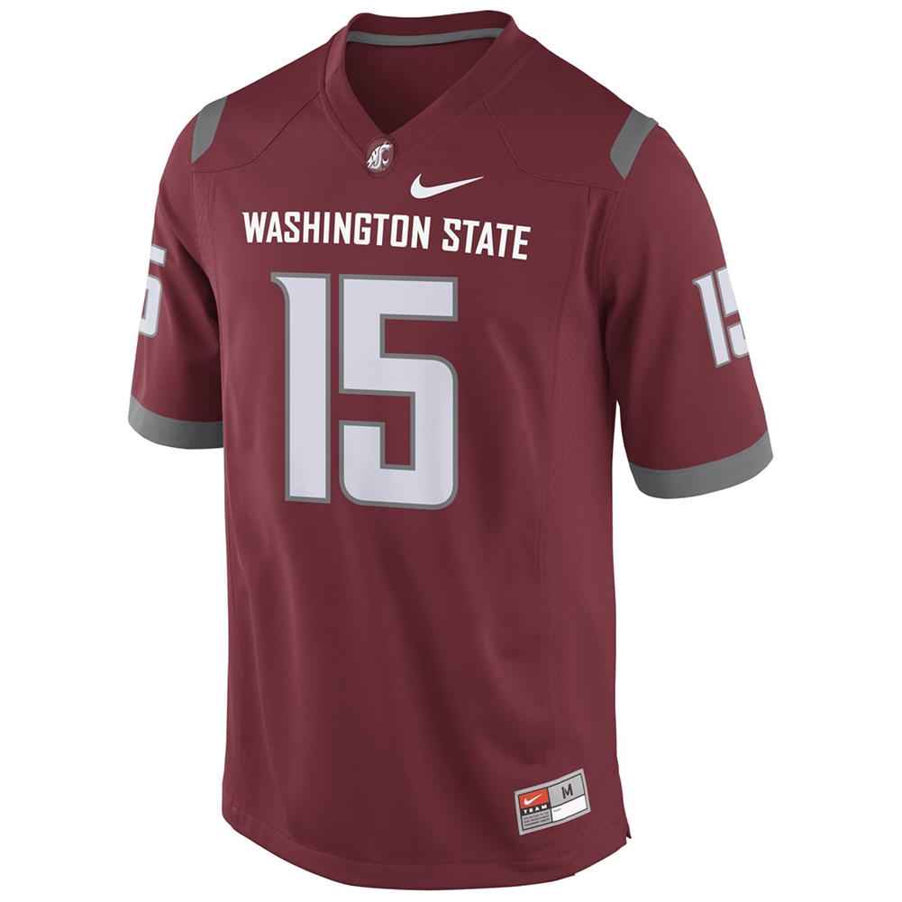 finest selection 98634 2aae7 Nike Washington State Cougars Replica Football Jersey - #15 Crimson
