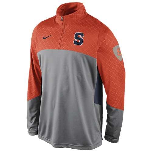 Nike syracuse orange long sleeve basketball shootaround shirt for Syracuse orange basketball t shirt