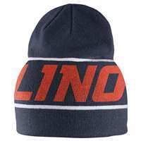 Nike Illinois Fightin Illini Players Knit Beanie