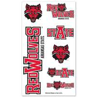 Arkansas State Redwolves Temporary Tattoos