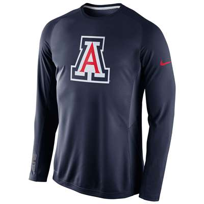 Nike Arizona Wildcats Long Sleeve Disruption Shooting Shirt