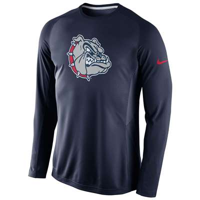 Nike Gonzaga Bulldogs Long Sleeve Disruption Shooting Shirt