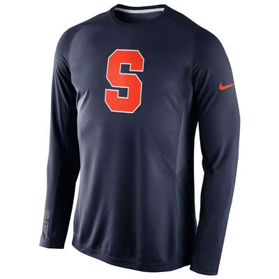 Nike Syracuse Orange Long Sleeve Disruption Shooting Shirt