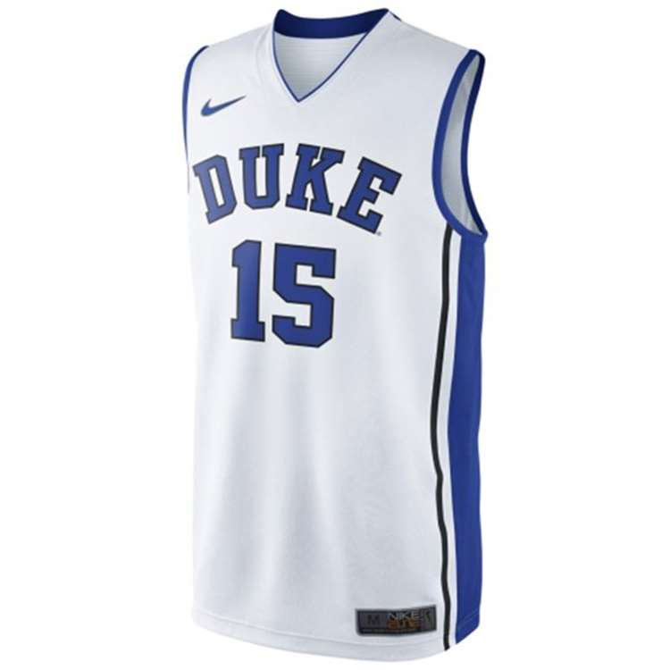219e01871e5 Nike Duke Blue Devils Replica Basketball Jersey -  15 - White