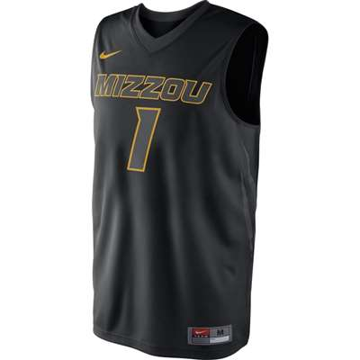 online store 2c4b0 5a506 Nike Missouri Tigers Replica Basketball Jersey - #1 - Black