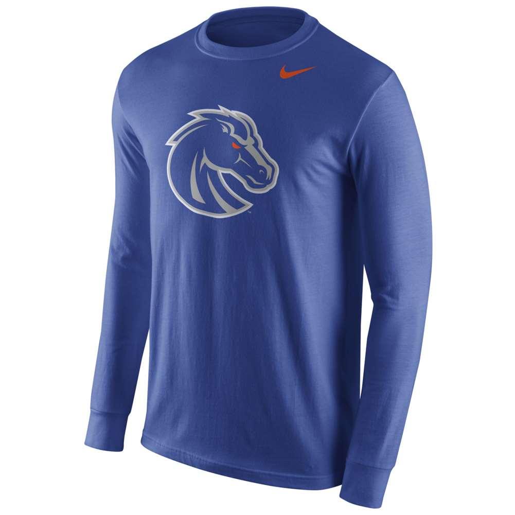 Nike boise state broncos cotton long sleeve logo t shirt for Boise t shirt printing