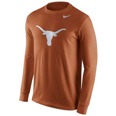 Nike Texas Longhorns Cotton Long Sleeve Logo T-Shirt