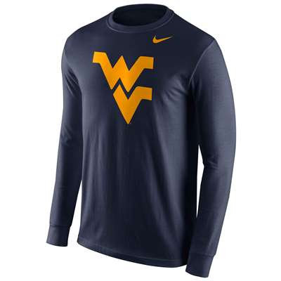 Nike West Virginia Mountaineers Cotton Long Sleeve Logo T-Shirt