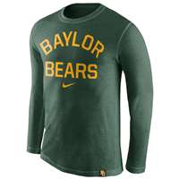 Nike Baylor Bears Tri-Blend Long Sleeve Conviction Crew Shirt