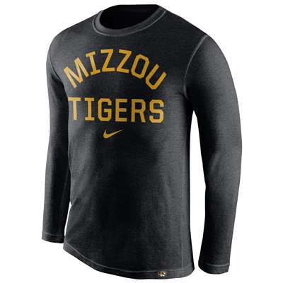 Nike Missouri Tigers Tri-Blend Long Sleeve Conviction Crew Shirt