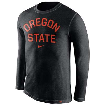 Nike Oregon State Beavers Tri-Blend Long Sleeve Conviction Crew Shirt