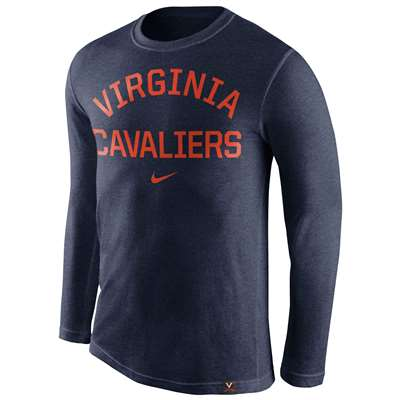 Nike Virginia Cavaliers Tri-Blend Long Sleeve Conviction Crew Shirt