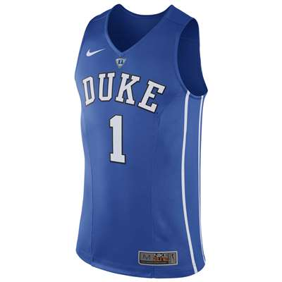 best service 6afbf 4597c Nike Duke Blue Devils Authentic Hyper Elite Basketball Jersey - #1 Royal