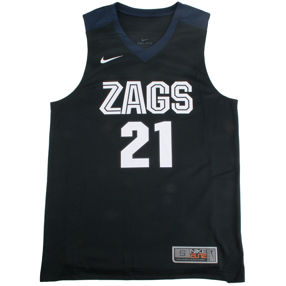 newest 30a69 7e1ec Nike Gonzaga Bulldogs Replica Basketball Jersey - #21 - Black